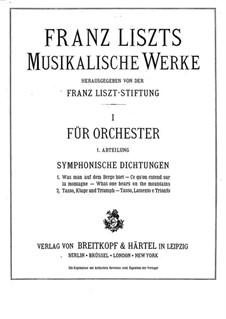 Symphonic Poem No.1 'Ce qu'on entend sur la montagne' for Orchestra, S.95: Partitura completa by Franz Liszt