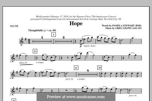 Hope: parte flauta by Greg Gilpin