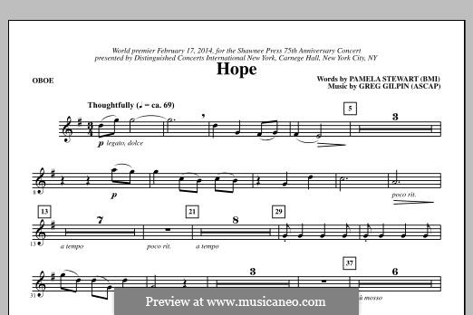 Hope: parte Oboe by Greg Gilpin