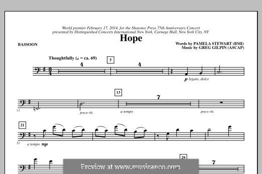 Hope: parte fagote by Greg Gilpin