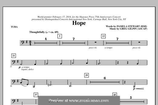 Hope: Tuba, partes by Greg Gilpin