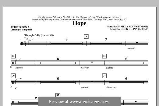 Hope: Percussion 2 part by Greg Gilpin