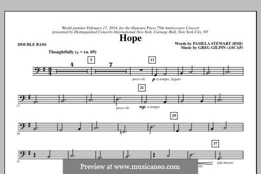 Hope: Parte contrabaixo by Greg Gilpin