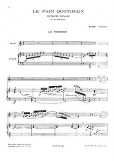 Le pain quotidien. Intimites vocales: Le pain quotidien. Intimites vocales by André Caplet