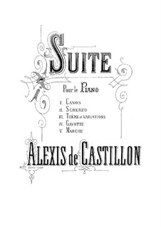 Suite No.1, Op.5: Suite No.1 by Alexis de Castillon