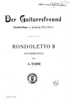 Rondoletto in E Minor: Rondoletto in E Minor by Adam Darr