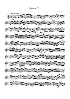 Partita for Violin No.2 in D Minor, BWV 1004: For a single performer by Johann Sebastian Bach