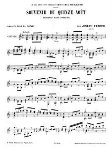 Romance sans paroles 'Souvenir du quinze août', Op.25: Para Guitarra by José Ferrer