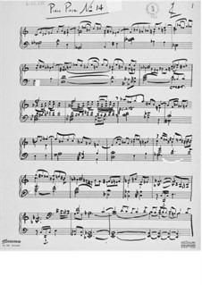 Piece for Piano No.14: Piece for Piano No.14 by Ernst Levy