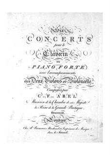 Six Concertos for Strings and Keyboard, Op.11: parte violoncelo by Carl Friedrich Abel