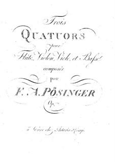 Three Quartets for Flute and Strings, Op.17: parte flauta by Franz Alexander Pössinger