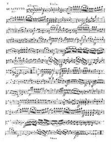 Three Quartets for Flute and Strings, Op.17: parte viola by Franz Alexander Pössinger