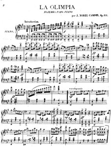 Olimpia. Mazurka for Piano, Op.166: Olimpia. Mazurka for Piano by Juan Morel Campos