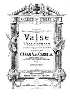 Waltz for Cello and Piano, Op.52: partitura by Cesar Casella