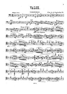 Waltz for Cello and Piano, Op.52: Parte de solo by Cesar Casella