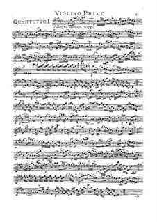 Six String Quartets, Op.15: quarteto de seis cordas by Carl Friedrich Abel