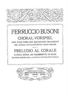 Contrapuntal Fantasia: Abridged edition, BV 256a by Ferruccio Busoni