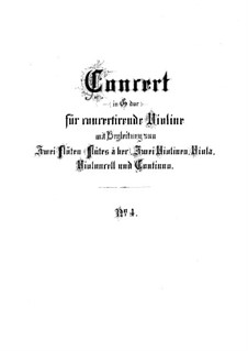 Brandenburg Concerto No.4 in G Major, BWV 1049: Partitura completa by Johann Sebastian Bach