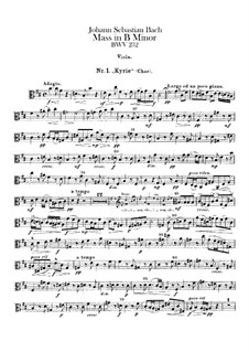 Complete Mass: parte viola by Johann Sebastian Bach