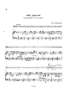 Agnus Dei: para Violoncelo e piano by Johann Sebastian Bach