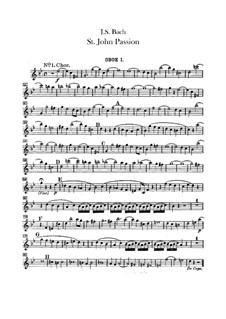 St John Passion, BWV 245: parte oboes by Johann Sebastian Bach