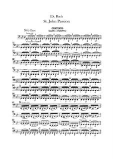St John Passion, BWV 245: parte basso continuo by Johann Sebastian Bach