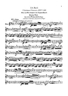 Weihnachts-Oratorium (The Christmas Oratorio), BWV 248: parte de oboes by Johann Sebastian Bach