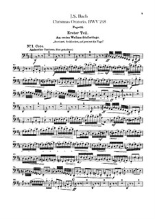 Weihnachts-Oratorium (The Christmas Oratorio), BWV 248: parte Fagotes by Johann Sebastian Bach