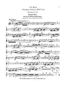 Weihnachts-Oratorium (The Christmas Oratorio), BWV 248: parte trompetas by Johann Sebastian Bach