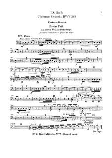 Weihnachts-Oratorium (The Christmas Oratorio), BWV 248: Peça para Timpano by Johann Sebastian Bach