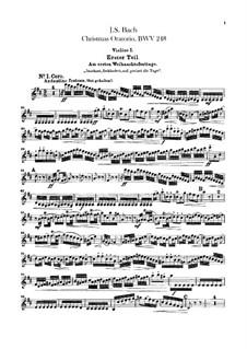 Weihnachts-Oratorium (The Christmas Oratorio), BWV 248: violino parte I by Johann Sebastian Bach