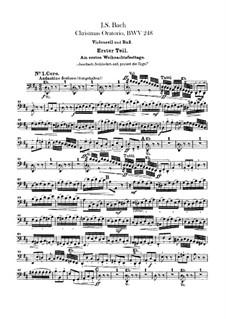Weihnachts-Oratorium (The Christmas Oratorio), BWV 248: parte violoncelo e contrabaixo by Johann Sebastian Bach