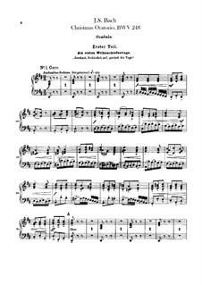 Weihnachts-Oratorium (The Christmas Oratorio), BWV 248: parte cravo by Johann Sebastian Bach