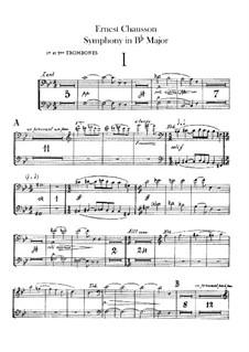 Symphony in B Flat Major, Op.20: parte de trombones e tubas by Ernest Chausson