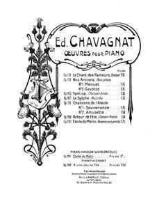 Étoile du Matin. Romance, for Violin (or Cello) and Piano, Op.201: Étoile du Matin. Romance, for Violin (or Cello) and Piano by Edouard Chavagnat