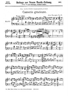 Causerie gracieuse, Op.17: Causerie gracieuse by Alice Danziger