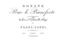 Sonata for Horn and Piano in E Minor, Op.44: parte piano by Franz Ignaz Danzi