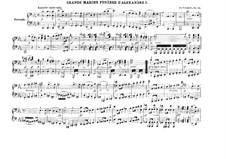 Grand Marche Funebre d'Alexandre I, D. 859 Op.55: para piano de quadro mãos by Franz Schubert