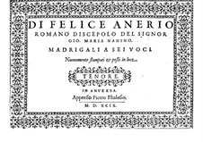 Madrigals for Six Voices: parte tenor by Felice Anerio