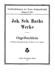 Preludes No.1-44, BWV 599-644: para piano de quadro mãos by Johann Sebastian Bach