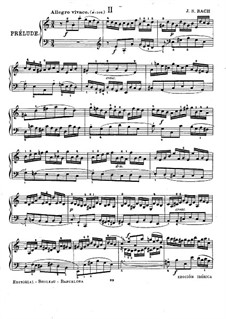 Suite No.2 in A Minor, BWV 807: Para Piano by Johann Sebastian Bach