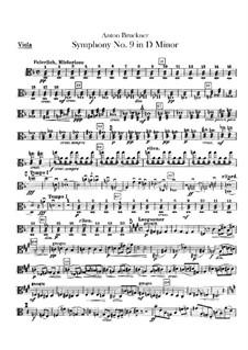 Symphony No.9 in D Minor, WAB 109: parte viola by Anton Bruckner