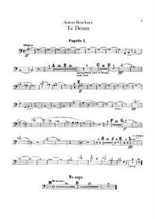 Te Deum Laudamus, WAB 45: parte fagotes by Anton Bruckner