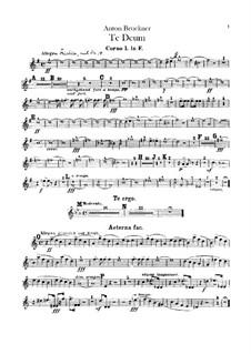 Te Deum Laudamus, WAB 45: parte trompa by Anton Bruckner