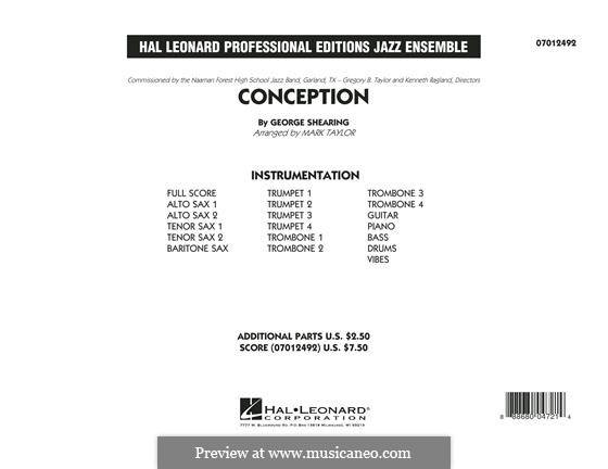 Conception: partitura completa by George Shearing