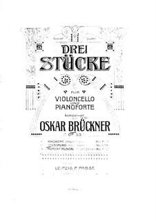 Begegnung, Op.53 No.2: Partituras para violoncelo e piano by Oscar Brückner