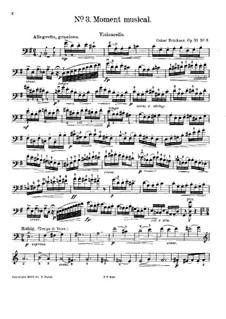 Moment Musical, Op.53 No.3: parte Solo by Oscar Brückner