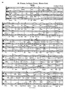 Komm, heiliger Geist, Herre Gott: Komm, heiliger Geist, Herre Gott by Arnold von Bruck
