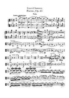 Poem in E Flat Major, Op.25: parte violas by Ernest Chausson