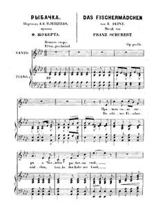 No.10 Das Fischermädchen (The Fisher-Maiden): Partitura piano-vocal by Franz Schubert